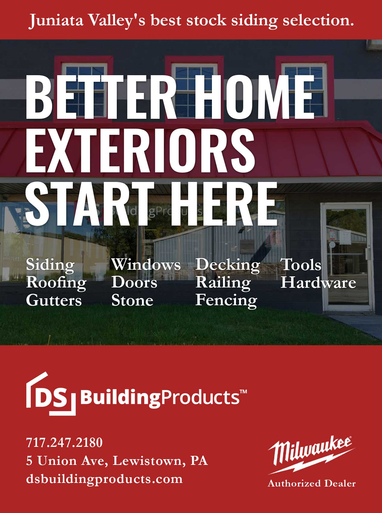"<center>DS Building Products | <b><a href=""http://www.dsbuildingproducts.com"" target=""_blank"" rel=""noopener noreferrer"">CLICK HERE to view the website</a></b></center>"