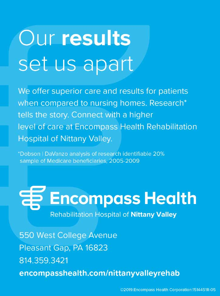 "<center>Encompass Health | <b><a href=""http://www.encompasshealth.com/nittanyvalleyrehab"" target=""_blank"" rel=""noopener noreferrer"">CLICK HERE to view the website</a></b></center>"