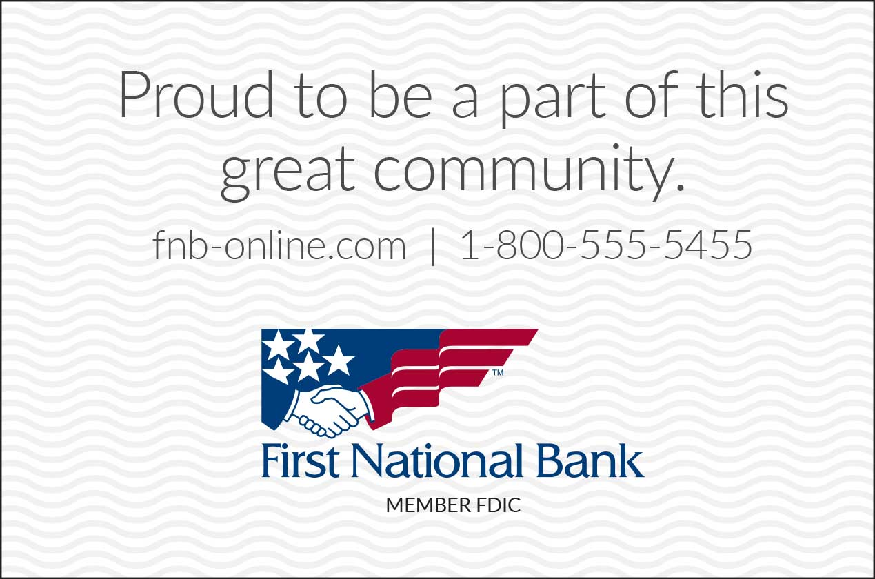 "<center>First National Bank | <b><a href=""https://www.fnb-online.com"" target=""_blank"" rel=""noopener noreferrer"">CLICK HERE to view the website</a></b></center>"