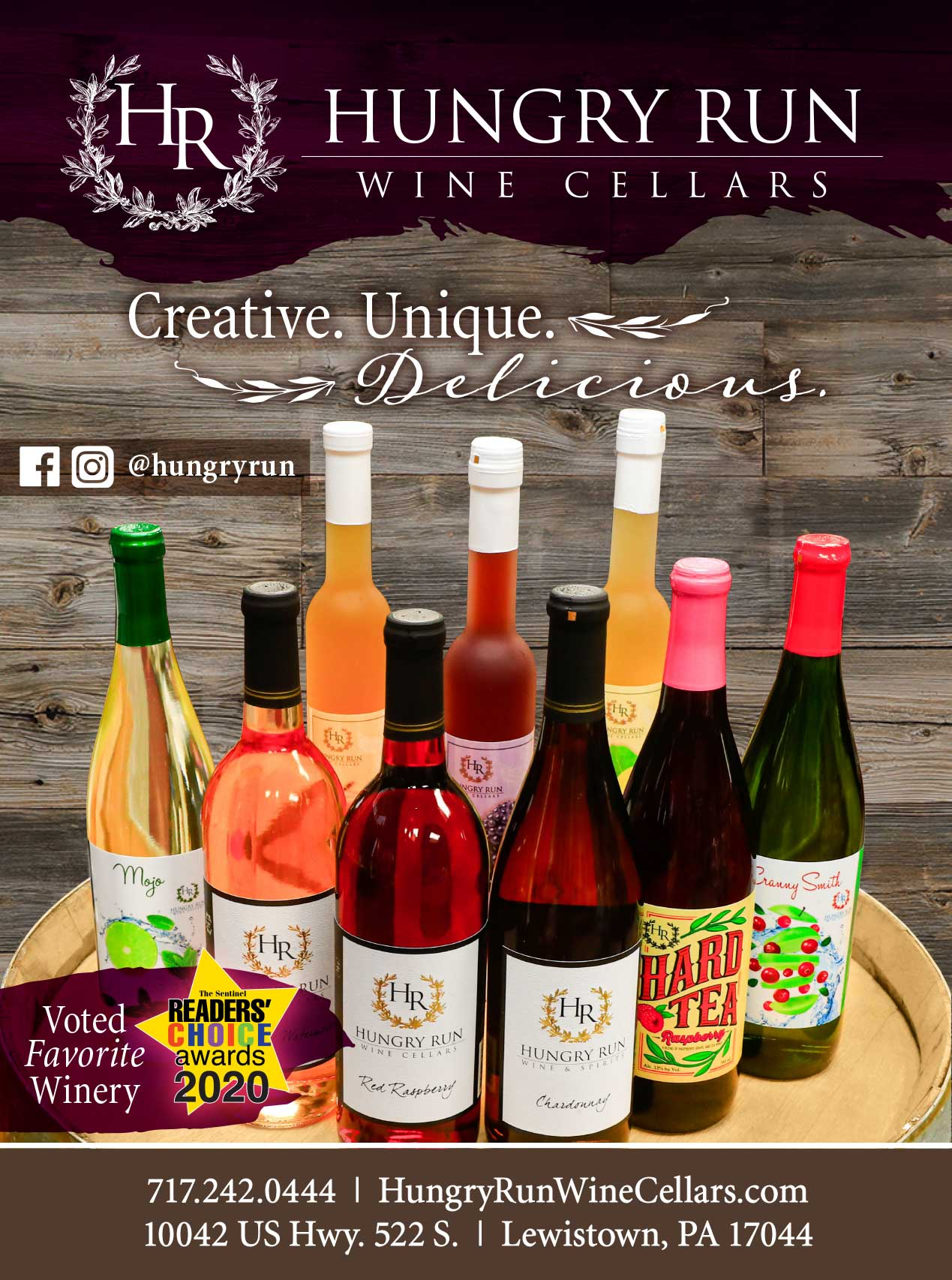 "<center>Hungry Run Wine Cellars | <b><a href=""https://hungryrunwinecellars.com"" target=""_blank"" rel=""noopener noreferrer"">CLICK HERE to view the website</a></b></center>"
