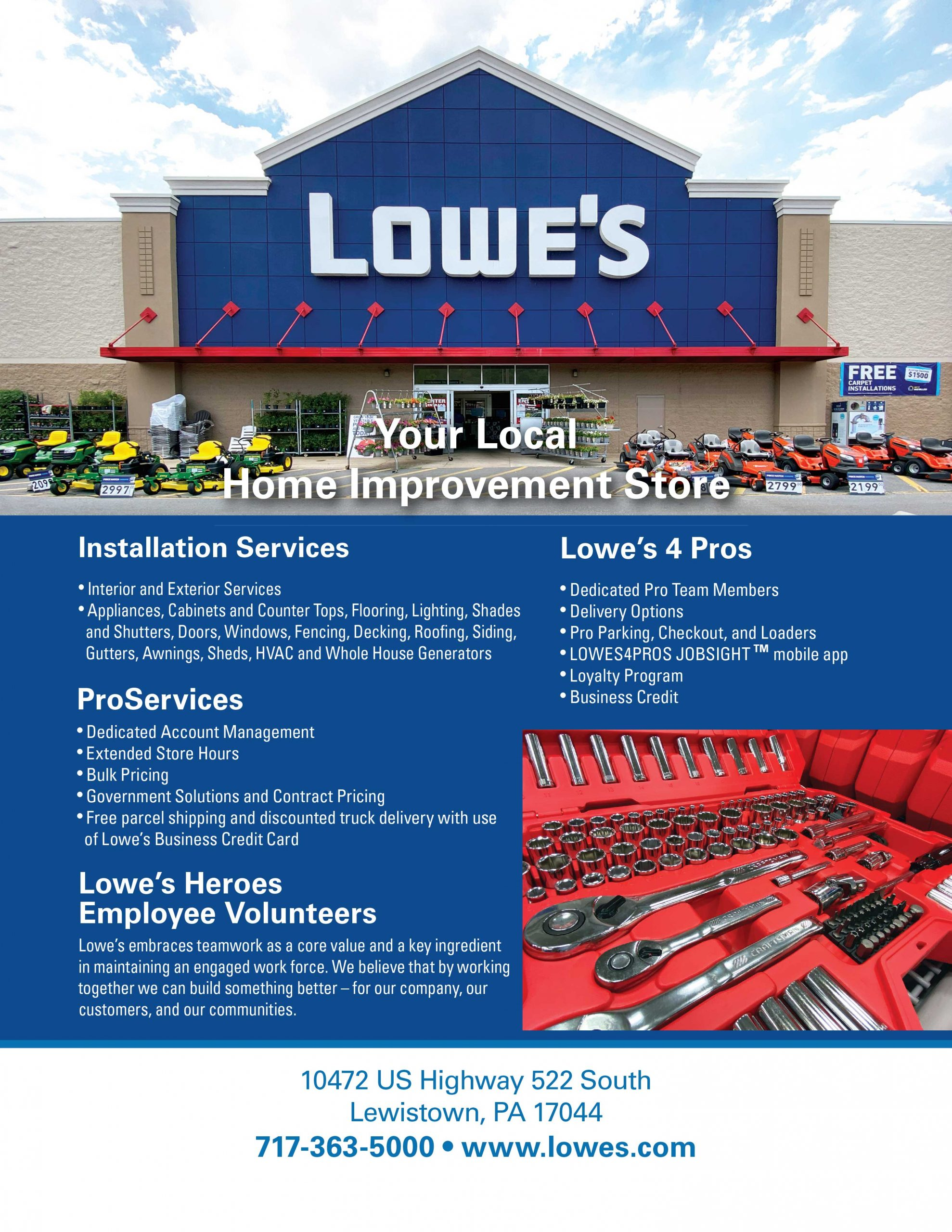 "<center>Lowe's | <b><a href=""https://www.lowes.com"" target=""_blank"" rel=""noopener noreferrer"">CLICK HERE to view the website</a></b></center>"