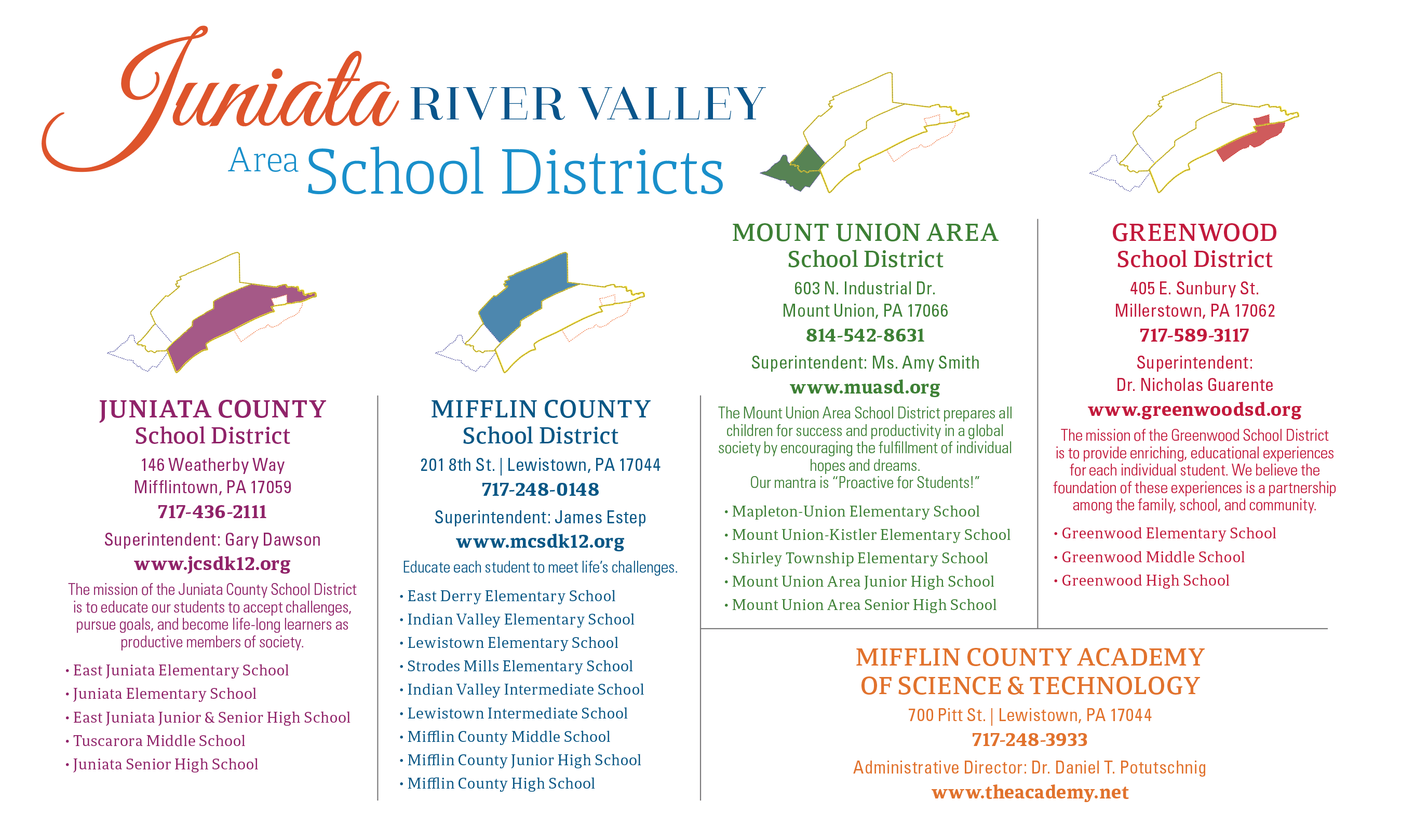 Juniata River Valley School Districts