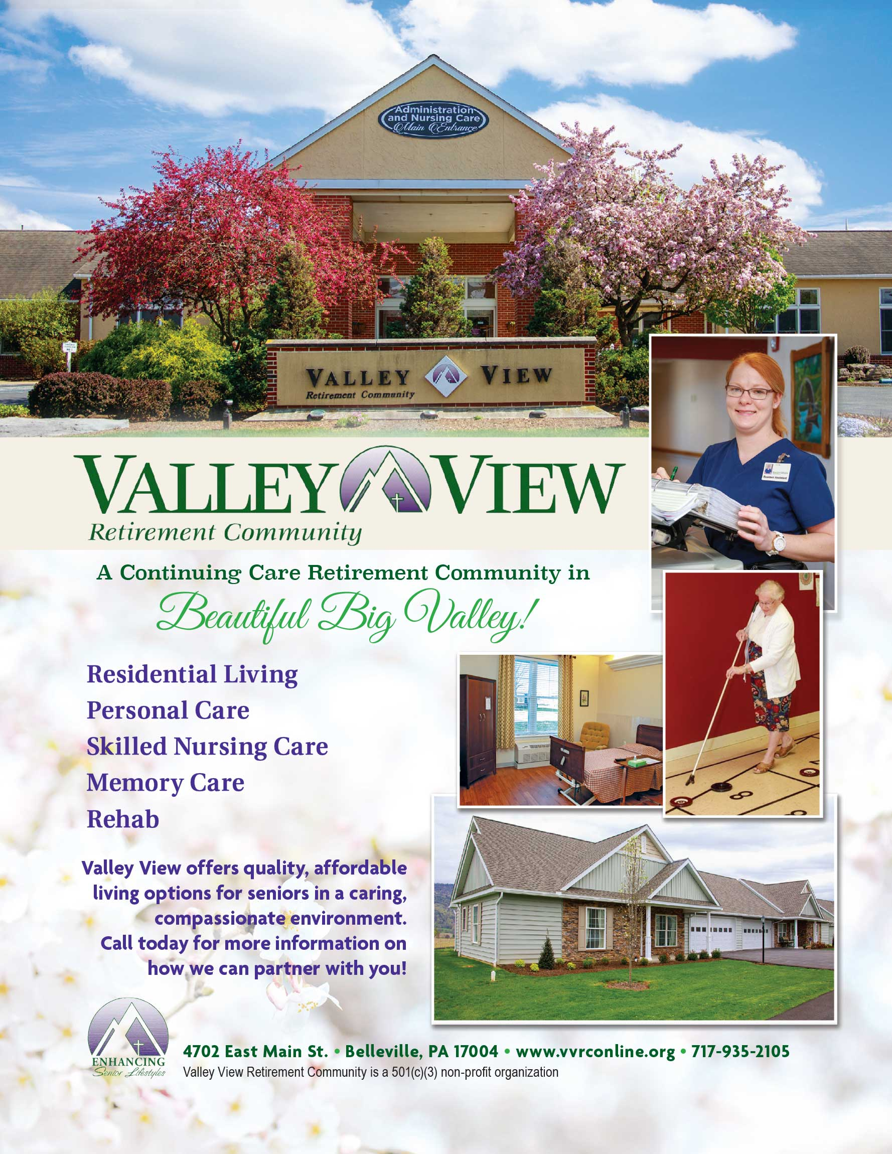 "<center>Valley View Retirement Community | <b><a href=""http://www.vvrconline.org"" target=""_blank"" rel=""noopener noreferrer"">CLICK HERE to view the website</a></b></center>"