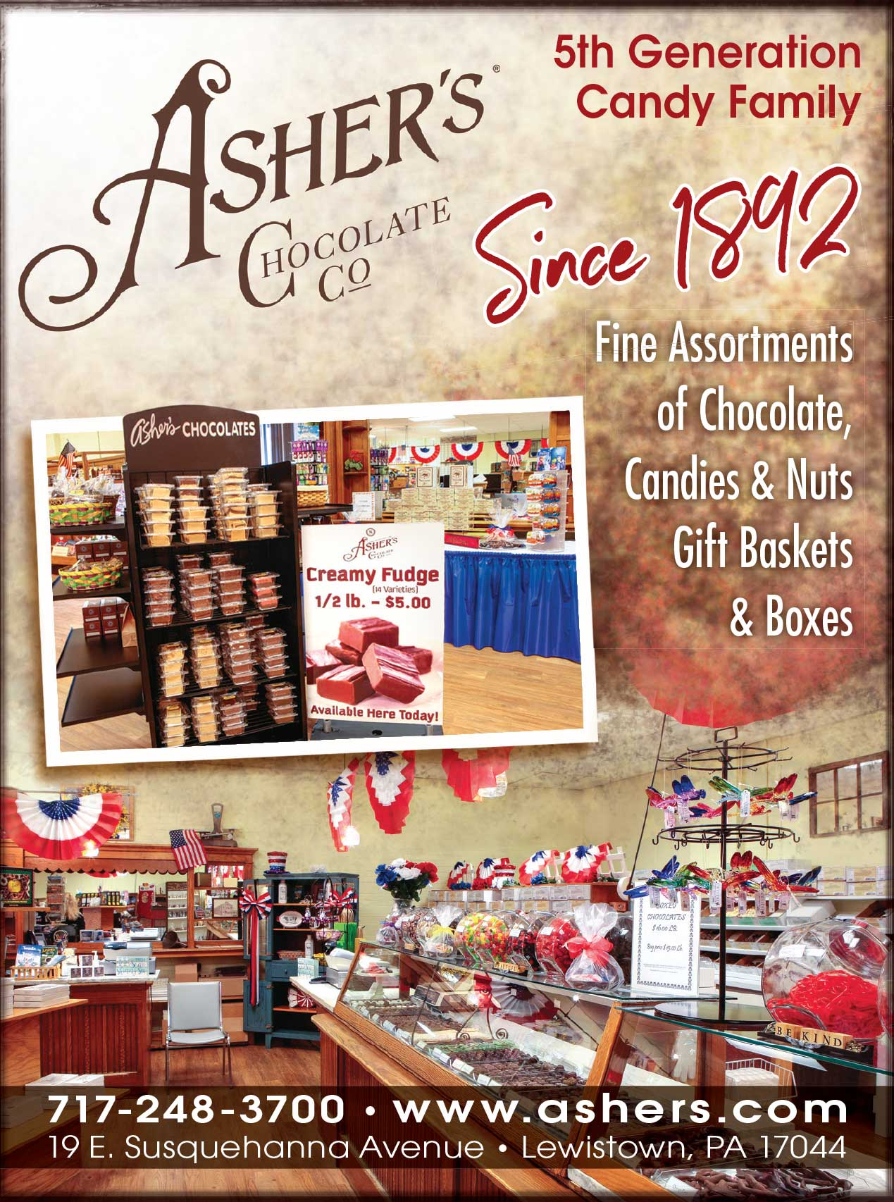 "<center>Asher's Chocolate Co | <b><a href=""https://www.ashers.com"" target=""_blank"" rel=""noopener noreferrer"">CLICK HERE to view the website</a></b></center>"
