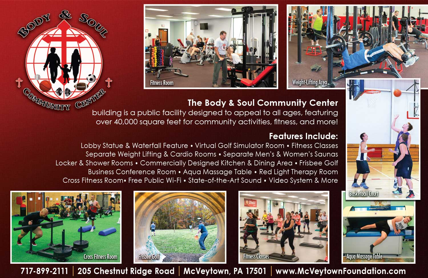 "<center>Body & Soul Community Center | <b><a href=""http://mcveytownfoundation.com"" target=""_blank"" rel=""noopener noreferrer"">CLICK HERE to view the website</a></b></center>"