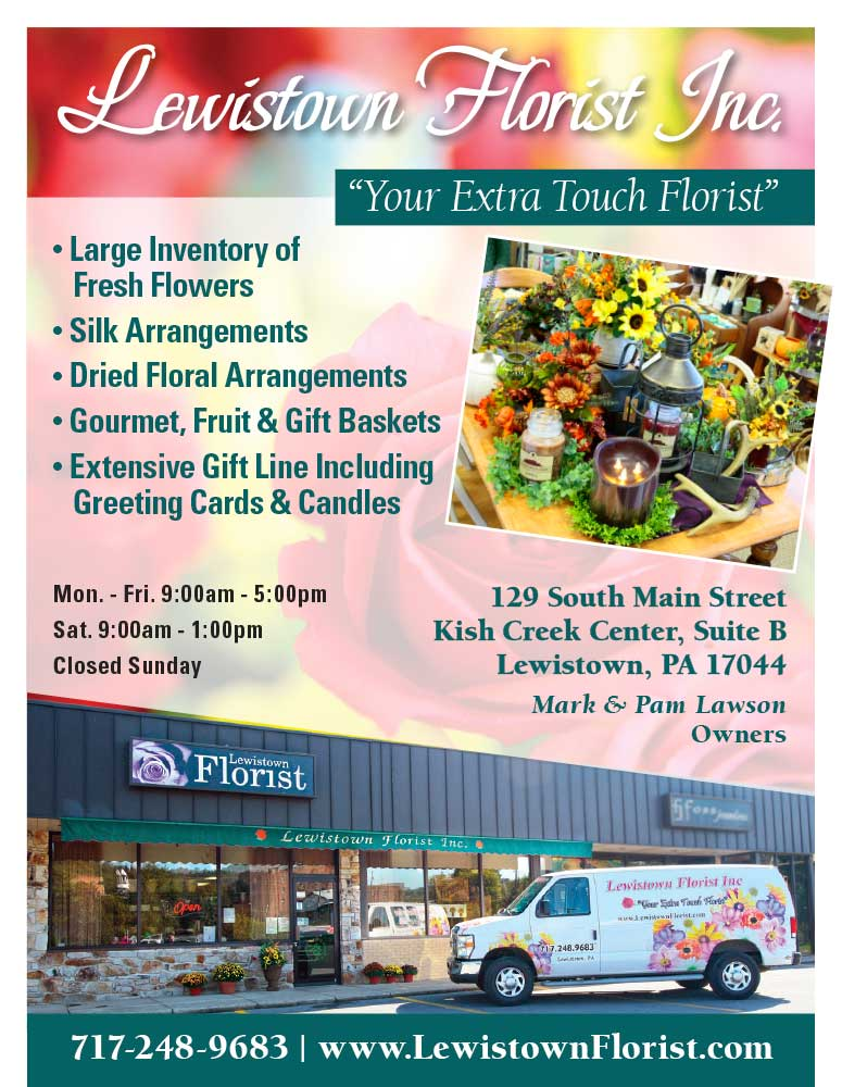 "<center>Lewistown Florist, Inc. | <b><a href=""https://www.lewistownflorist.com"" target=""_blank"" rel=""noopener noreferrer"">CLICK HERE to view the website</a></b></center>"