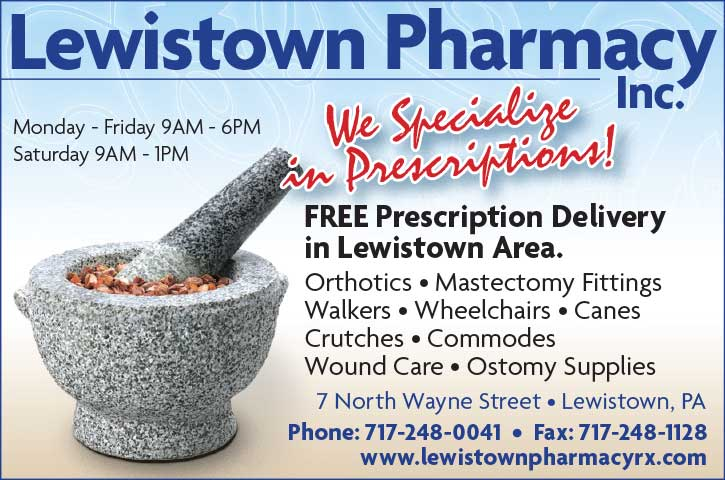 "<center>Lewistown Pharmacy, Inc. | <b><a href=""https://www.lewistownpharmacyrx.com"" target=""_blank"" rel=""noopener noreferrer"">CLICK HERE to view the website</a></b></center>"