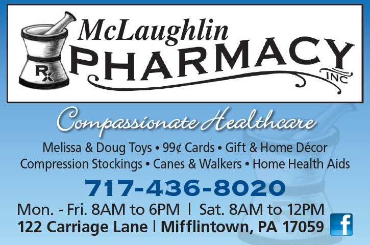 "<center>McLaughlin Pharmacy, Inc. | <b><a href=""https://jpmjohn88.wixsite.com/mclpharminc"" target=""_blank"" rel=""noopener noreferrer"">CLICK HERE to view the website</a></b></center>"
