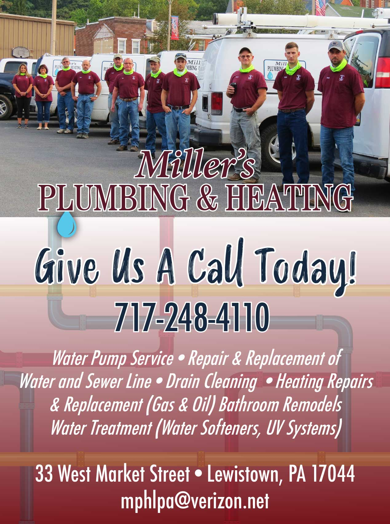 "<center>Miller's Plumbing and Heating of Lewistown, Inc. | <b><a href=""http://millers-heating.edan.io"" target=""_blank"" rel=""noopener noreferrer"">CLICK HERE to view the website</a></b></center>"